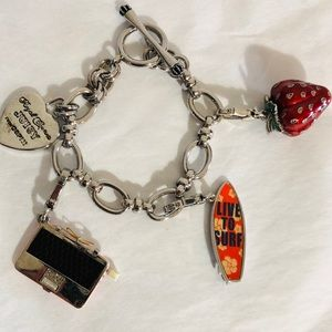 Juicy Couture Chain Link Charm Bracelet